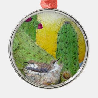 Ornamento De Metal Pássaros no deserto