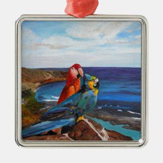 Ornamento De Metal Pássaros tropicais que negligenciam a baía