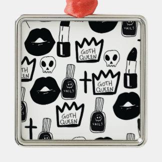 Ornamento De Metal pastel goth, queen, horror, terror, gothic, femini