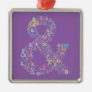Ornamento De Metal Pastels do Ampersand