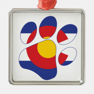 Ornamento De Metal Pata do animal de estimação de Colorado