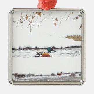 Ornamento De Metal Pato do inverno