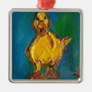 Ornamento De Metal Pato feliz