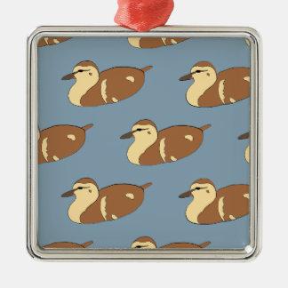 Ornamento De Metal Patos da natação