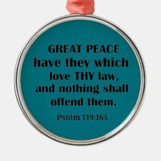 Ornamento De Metal Paz do 119:165 do salmo a grande tem-nos que amam