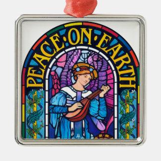 Ornamento De Metal Paz na decoração cerâmica do vitral da terra