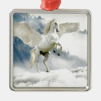 Ornamento De Metal Pegasus Horned