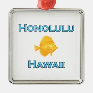 Ornamento De Metal Peixes amarelos de Honolulu Havaí Tang