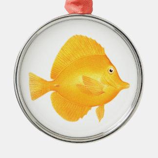 Ornamento De Metal Peixes amarelos de Tang