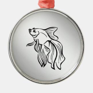 Ornamento De Metal Peixes de combate Siamese