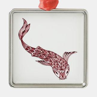 Ornamento De Metal Peixes de Koi