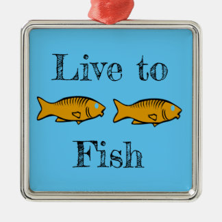 Ornamento De Metal peixes que nadam