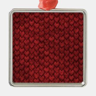 Ornamento De Metal Pele vermelha do dragão