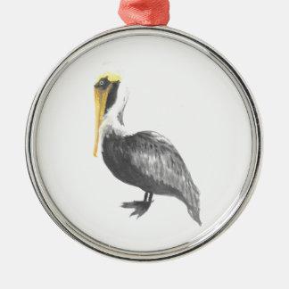 Ornamento De Metal Pelicano de Brown
