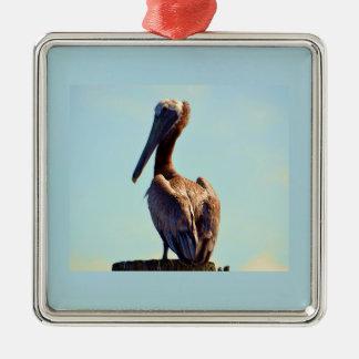 Ornamento De Metal Pelicano de Louisiana