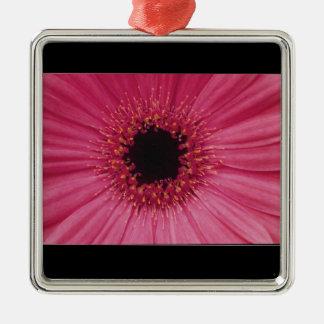 Ornamento De Metal Pendente cor-de-rosa da flor
