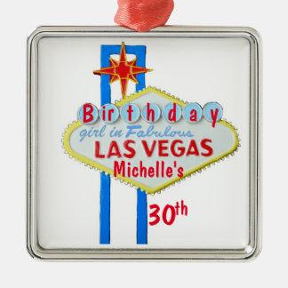 Ornamento De Metal Pendente da celebração do aniversário de Las Vegas
