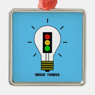 Ornamento De Metal Pensador original da ampola temperamental do sinal