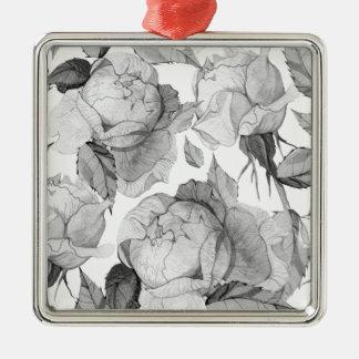 Ornamento De Metal peônia cinzenta