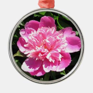 Ornamento De Metal Peônia cor-de-rosa