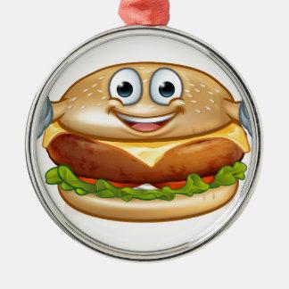 Ornamento De Metal Personagem de desenho animado da mascote da comida