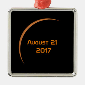Ornamento De Metal Perto do eclipse solar parcial do 21 de agosto de