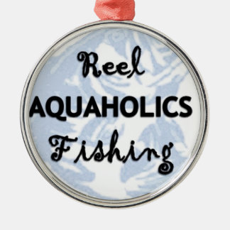 Ornamento De Metal Pesca de Aquaholics do carretel