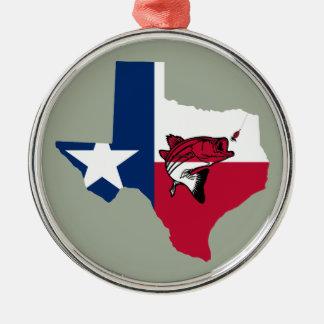 Ornamento De Metal Pesca de Texas