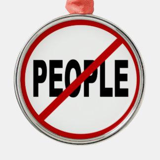 Ornamento De Metal Pessoas de pessoas de /No do ódio permitidas a