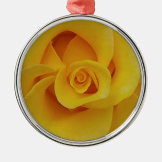 Ornamento De Metal Pétalas cor-de-rosa amarelas românticas