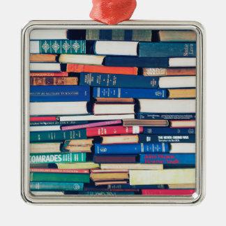 Ornamento De Metal Pilha de livros