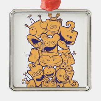 Ornamento De Metal pilha dos desenhos animados do vintage