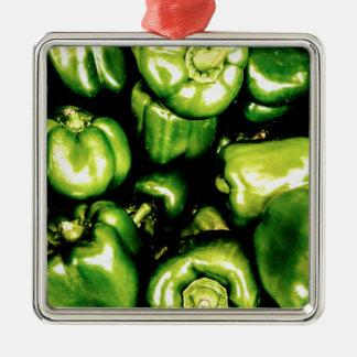Ornamento De Metal Pimentas de Bell verdes