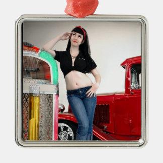 Ornamento De Metal Pin de hot rod Rockabilly da garagem acima da