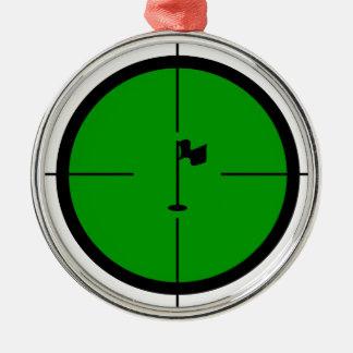 Ornamento De Metal Pin do golfe nos Crosshairs