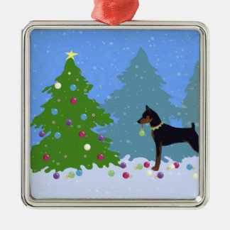 Ornamento De Metal Pin do minuto na floresta que decora a árvore de