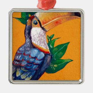 Ornamento De Metal Pintura bonita do pássaro de Toucan