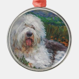 Ornamento De Metal Pintura inglesa velha bonita da arte do cão do