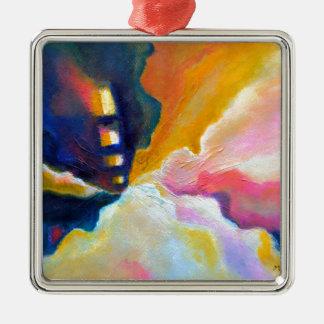 Ornamento De Metal Pintura inspirada colorida abstrata da emergência