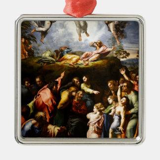 """Ornamento De Metal Pintura original """"a transfiguração"""" Raffaello"""