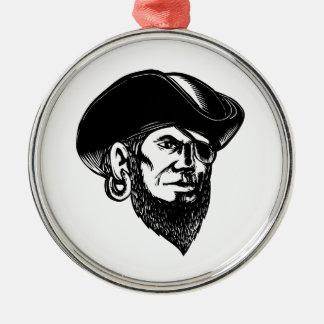 Ornamento De Metal Pirata que veste o remendo Scratchboard do olho