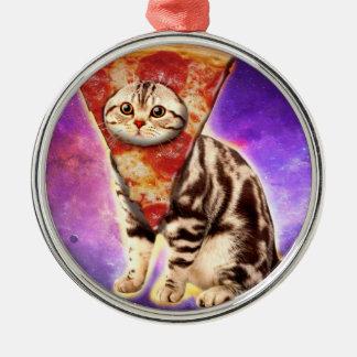 Ornamento De Metal Pizza do gato - espaço do gato - memes do gato