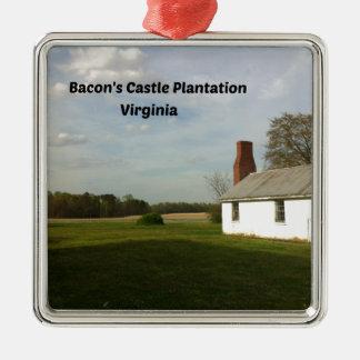 Ornamento De Metal Plantação do castelo do bacon, VA