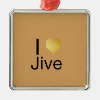 Ornamento De Metal Playfully o coração elegante de I Jive