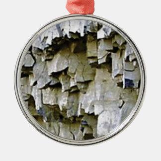Ornamento De Metal plissados aleatórios da rocha