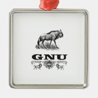 Ornamento De Metal poder do gnu
