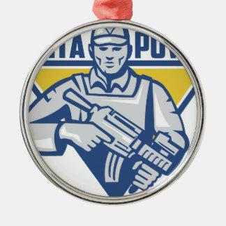 Ornamento De Metal Poder ucraniano da junta do exército