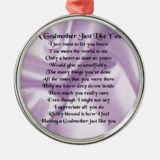 Ornamento De Metal Poema   da madrinha do Lilac