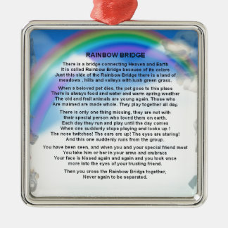 Ornamento De Metal Poema da ponte do arco-íris