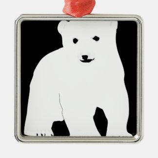Ornamento De Metal PolarBearCubBlackSF
